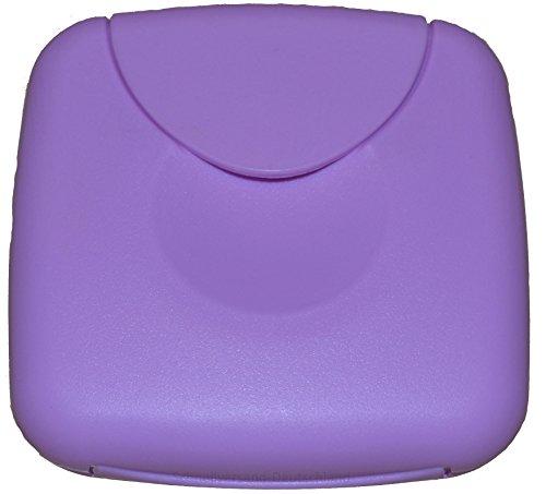Tampons-box (Tampon Aufbewahrung / Tampon Box / Dose für Tampons, Kondome oder Pflaster - Binden und Slipeinlagen (Flieder))