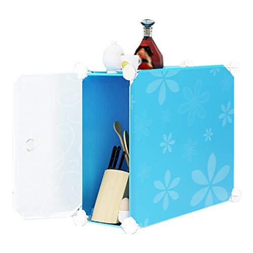 REGAL HUYP Badezimmer-Badezimmer-Lücke-Speicher-Kabinett-Küchen-Gestell-einfache Mode (Farbe : Blau) (Lebensmittel-speicher-kabinett)