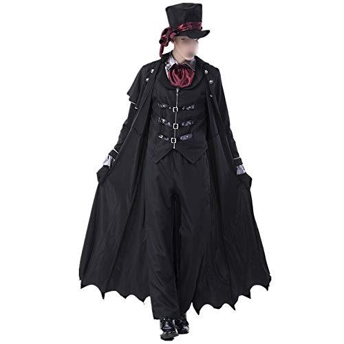HUOFEIKE Männliche und weibliche Paare Vampir Rollenspiel, dunklen Stil Halloween-Kostüm gesetzt Festliche Kostüme für Themenparty Bühnenperformance Bühnenperformance,Zx,XL (Sexy Männlichen Vampir Kostüm)