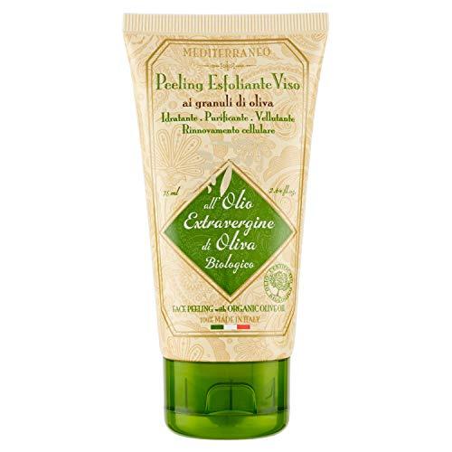 Mediterraneo peeling esfoliante viso ai granuli di oliva-olio d'oliva extravergine biologico - 100 grammi