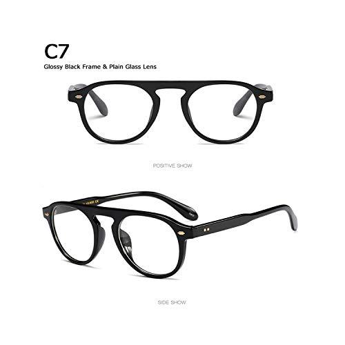 Sport-Sonnenbrillen, Vintage Sonnenbrillen, New Fashion Vintage Round Style Tint Ocean Lens Sunglasses Men Women Brand Design Sun Glasses Oculos De Sol 92106 C7