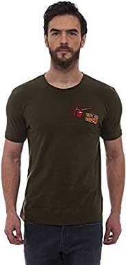 Royal Enfield Olive Cotton T-Shirt for Men Size (3XL) 48 CM (RLATSI000114)