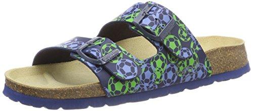 Superfit Jungen Fussbettpantoffel Pantoffeln, Blau (Ocean Multi 83), 26 EU