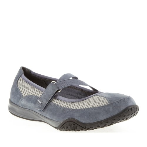 Propet ZigZag Elite Damen Schmal Rund Wildleder Mary Janes Denim Blue/Grey