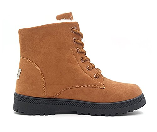 Wicky Ls Ladies Winter Worker Boots Outdoor Stivaletti Caldi Foderati Calze Sneaker Kaki