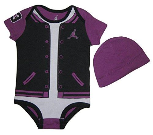 Nike Air Jordan Baby Jungen 2-C Bodysuit Mütze, Fuchsia, 9/12 Monate