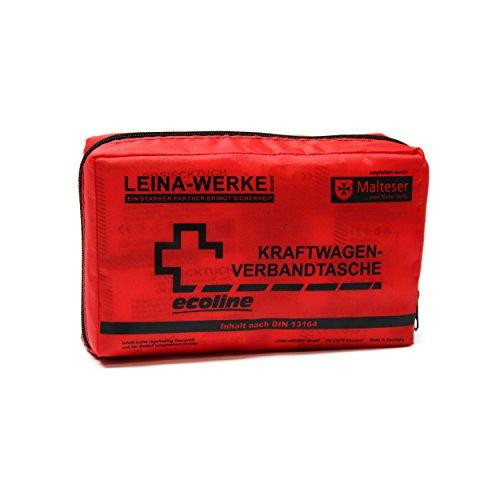 Leina-Werke 11036 KFZ-Verbandtasche Compact Ecoline mit Klett, Rot/Schwarz