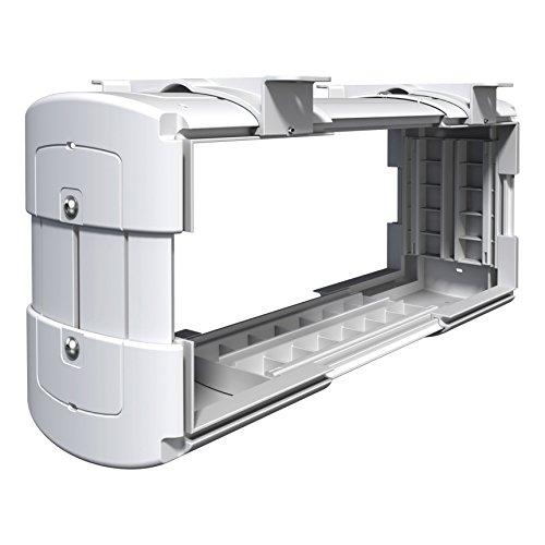Eurosell - Premium Unterbau PC Computer Mini / MIdi Tower Halter Halterung Ständer - Unter Tisch Montage - vertikal / horizontal