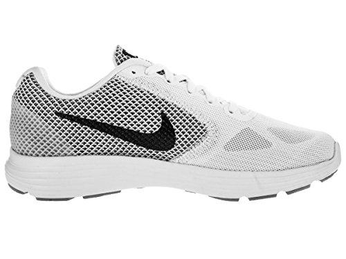Nike NikeNike Revolution 3, Damen Laufschuhe - Scarpe Running Donna White/Mtlc Dark Grey/Wolf Grey