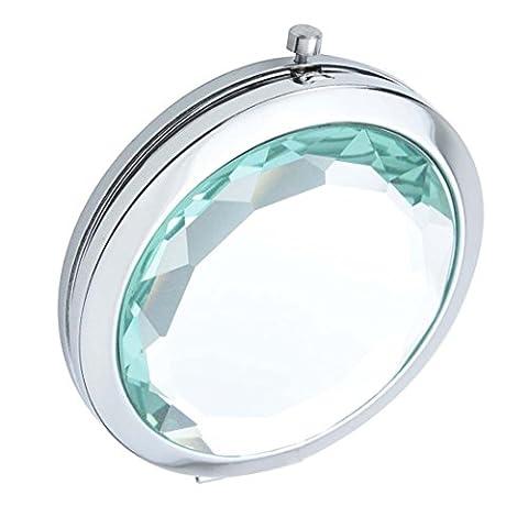 Ohcde Dheark Poche De Pliage Compact De Voyage Crystal Miroir