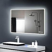 badspiegel mit beleuchtung für eine schöne atmosph - spiegel id ...