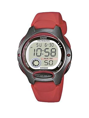 Casio Collection – Damen-Armbanduhr mit Digital-Display und Resin-Armband – LW-200-4AVEF