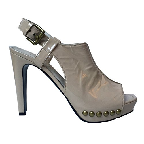 Kennel & Schmenger , Escarpins femme Nude Patent Studded Shoe Boot
