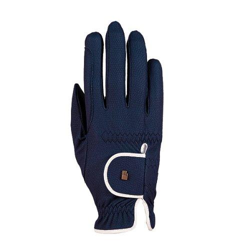 Screen Handschuhe Touch Grip (Reithandschuh Roeckl-Grip 3301-336 marine / weiss Gr. 7,5 Touchscreen Compatible)