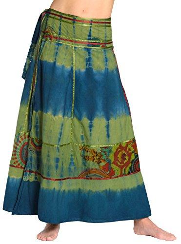 Falda Cruzada teñida Batik - Falda Unisex India