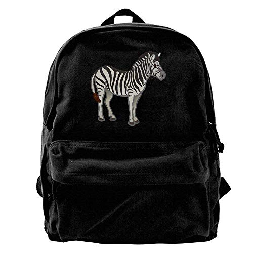 Rucksäcke, Daypacks,Taschen, 50% Off Unisex Classic Canvas Backpack Black and White Zebra Unique Print Style,Fits 14 Inch Laptop,Durable,Black -