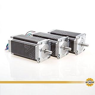 ACT MOTOR GmbH 3PCS Nema23 Stepper Motor 23HS2442 4.2A 112mm 2.8N.m Single Shaft CNC Automation Engrave Cut