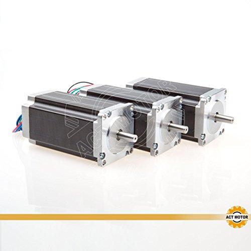 ACT Motor GmbH Nema23 Stepper Motor 3PCS 23HS2430 112mm 2.8Nm 3A φ8mm Single Shaft 4Leads CNC Engrave Cut Mill
