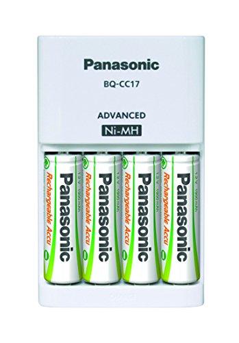 Panasonic bq-cc03-Akku Ladegeräte (Hybriden Metallhydrid (NiMH), innen, AA, AAA, Hybrid Nickel Metal, weiß)