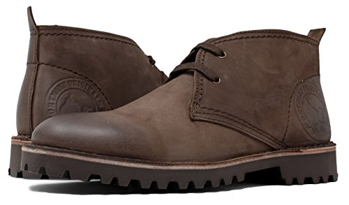 PORTMANN Originals |Herren Classic Desert Boots | Geöltes Chukka-Leder | Extra leichte Sohle | Handgefertigt in Portugal. (42 EU, Dark Chocolate Nubuck) Original Leder Boot