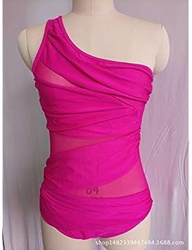 Una pieza _ en traje de baño moderno y cómodo bikini l split multi-color, el rojo ,4XL
