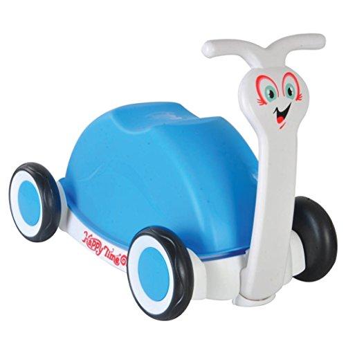 Correpasillos caracol. 3 en 1. Bicicleta sin pedales, carro o cochecito / andador. Azul / celeste.