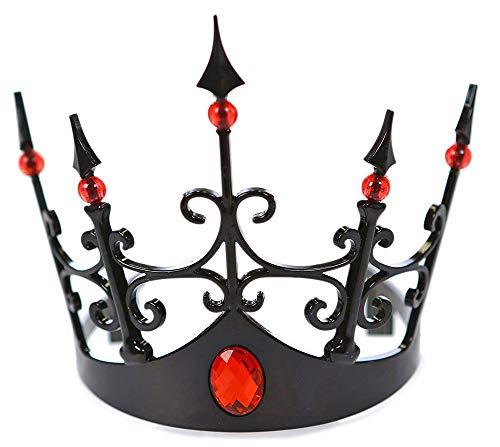 Königin Krone Kostüm - Das Kostümland Krone zu Böse Königin Kostüm - Schwarz Rot - Dunkle Fee Halloween Karneval Zubehör