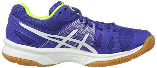 Asics Jungen Gel-Upcourt Gs Badminton Schuhe Mehrfarbig (Blue / White / Safety Yellow)