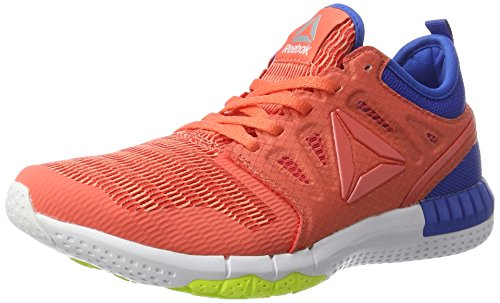 Reebok Zprint 3d, Scarpe Running Donna Rosso (Fire Coral/stellar Pink/awesome Blue/solar Yellow/white)