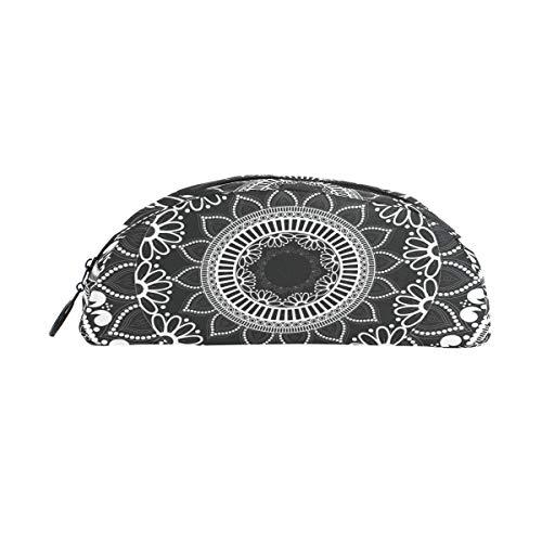 TIZORAX - Estuche para lápices, diseño de flores étnicas, color negro