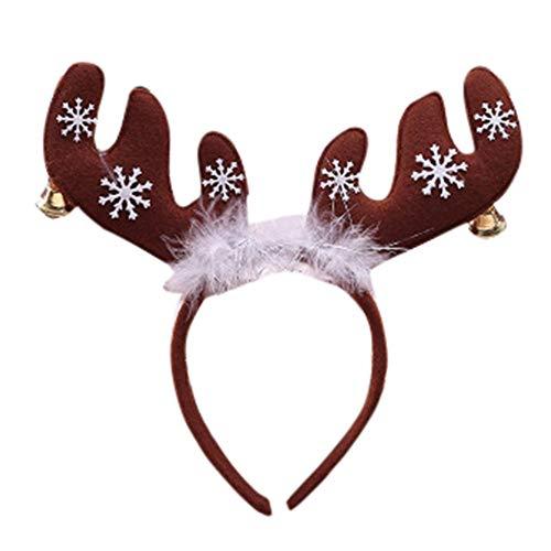 UEVOS Stirnband Damen Kopfband Niedlich Weihnachts Hirsch Stirnband Weihnachten Ohr Haar Kopf Zubehör Fotografie Requisiten Haarschmuck Tiara Headwear