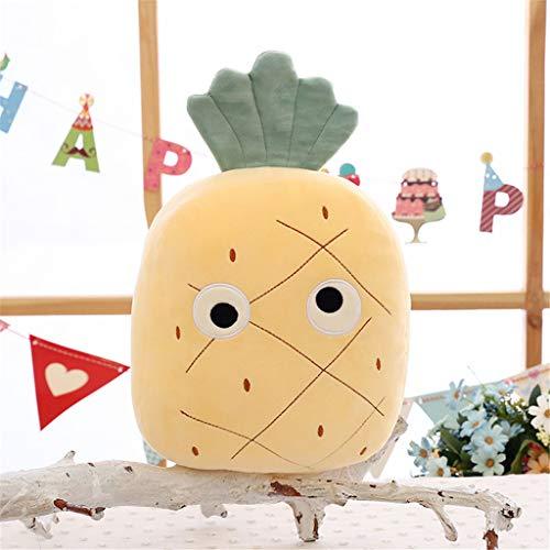 Miss Zhang's shop peluches per Bambini Schienale Super Morbido Cuscino per Bambola per Dormire - Ananas 60 Cm di Frutta Peluche Giocattoli