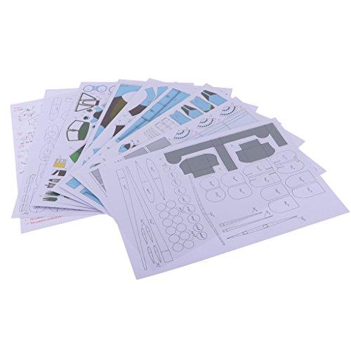 MagiDeal 1: 33 3D SU-25 Militär Flugzeug Papier Modell Kartonmodell Bastelbogen Spielzeug für Kinder (Papier Modell Autos)