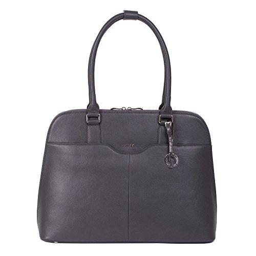 SOCHA Designer Tasche für Notebook 35,5-39,6 cm (14-15,6 Zoll) Couture Taupe gris -