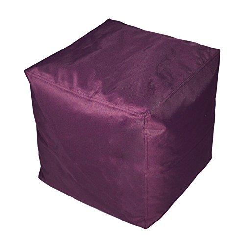 Kinzler S-10117/50 Sitzwürfel, ca. 40x40x40 cm, Outdoor & Indoor, Sitzsack in vielen verschiedenen...