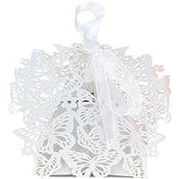 50PCS romantico regalo di nozze fai da te Decorazione farfalla cake Candy confezione regalo con (Cookie Regalo Farfalla)
