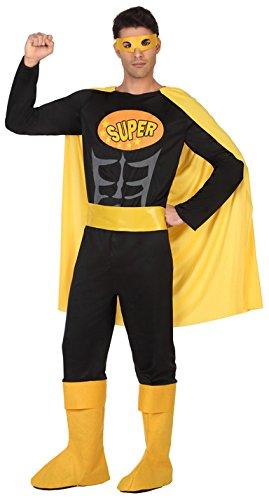 Atosa-39381 Disfraz Hombre Super héroe Comic, Color Negro, M-L (39381)