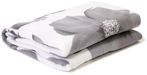 Textile Warehouse Poppy Grey Fleece Throw 120 x 150 Super Soft Warm Thick Blanket