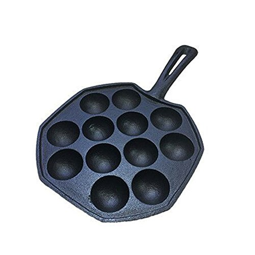 Cast iron small octopus balls grilled pan household non-stick boil quail egg mold Korean baking pan