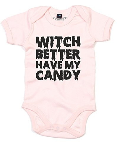 Witch Better Have My Candy, Gedruckt Baby Strampler - Hellrosa/Schwarz 0-3 Monate