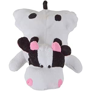 Novelty Hot Water Bottle With Plush Cow Cover New