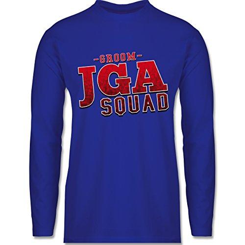 JGA Junggesellenabschied - JGA Squad Groom - Longsleeve / langärmeliges T-Shirt für Herren Royalblau