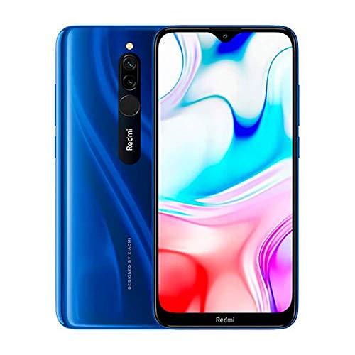 "Xiaomi Redmi 8 Teléfono 3GB RAM + 32GB ROM, Pantalla de Caída de Puntos de 6.22 \"", Procesador Snapdragon 439 Octa-core, Cámara Frontal Dual de 8MP y Cámara Trasera Dual AI de 12MP + 2MP (Azul)"