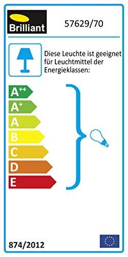 Eiche Dunkel Holz-basis (Brilliant Juno Spotbalken, 2-flammig, 2x E14 maximal 40W, Metall/Holz, buche/eisen 57629/70)