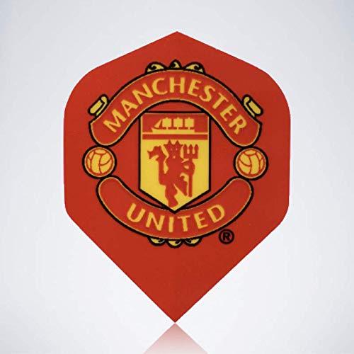 myDartpfeil Rote Standard Dart Flights | Manchester United aus Kunststoff | 3er Flight Set | Dartpfeil Flyer (Manchester Flights Dart United)