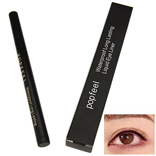 Schwarz Wasserfest Kosmetik Lidstrich Makeup Kajalstift POPFEEL Eyeliner Stifte