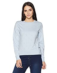 Pepe Jeans Womens Cotton Sweatshirt (PIL0001601 4_Blea Blue_Medium)