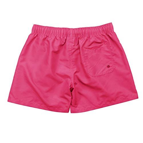 Kaister Badehose für Herren Reine Farben Spleiß Streifen Strand Arbeit beiläufige Männer schließen Hosen Kurzschluss Hosen kurz -