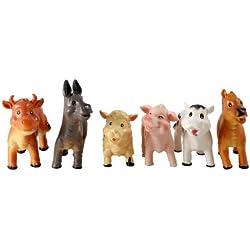 Peterkin - Set de figurines d'animaux de la ferme pour bébé