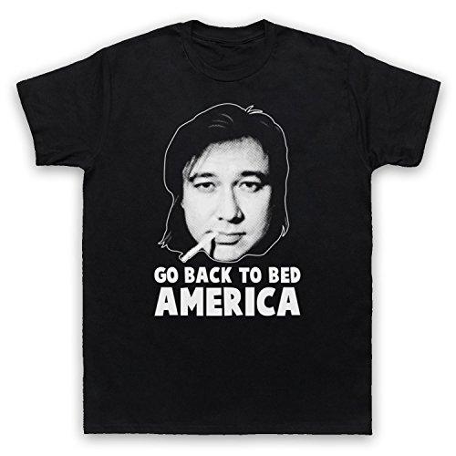 Inspiriert durch Bill Hicks Go Back To Bed America Unofficial Herren T-Shirt Schwarz